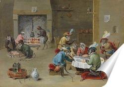 Постер Обезьяны на кухне