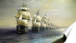 Постер Смотр Черноморского флота в 1849 г