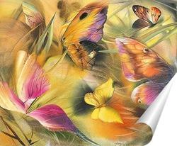 Постер бабочки на ветру