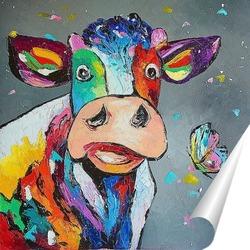 Постер Счастливая корова