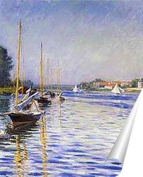 Постер Лодки на Сене. 1892