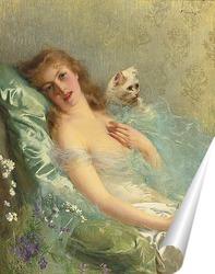 Постер Белая кошка
