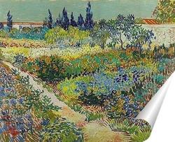 Постер Сад с цветами