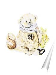 Постер Тедди мишка акварелью