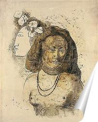 Постер Таитянская Женщина со Злым Духом
