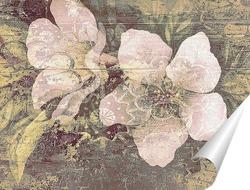 Постер Цветы с орнаментом