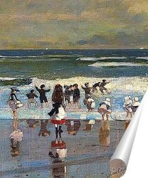Постер Пляжная сцена