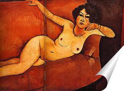 Постер Обнажённая женщина на диване