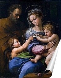 Постер Святое семейство с маленьким Иоанном Крестителем