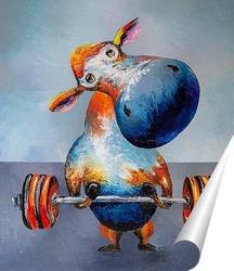 Постер Корова атлет.