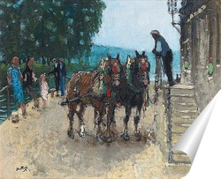 Постер Пара лошадей