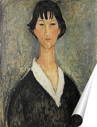 Постер Девушка с черными волосами