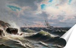 Постер Чайка над морем