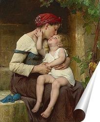 Постер Мать с ребенком