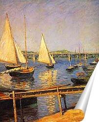 Постер Парусные лодки. 1888