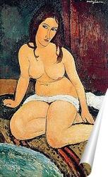 Постер Сидящая обнаженная