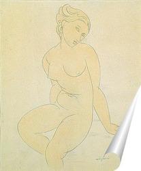 Постер Сидящая обнаженная, 1917