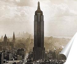 Постер Эмпайр Стэйт Билдинг, 1930
