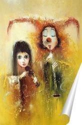 Постер Арлекин и Коломбина