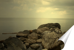 Постер Каменистый берег моря