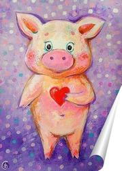 Постер Свинка