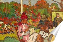 Постер Париж, Люксембургский сад, вязальщица