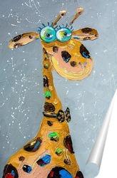 Постер Влюбленный жирафчик