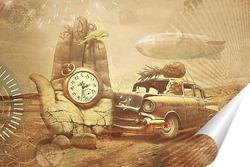 Постер Кот за рулем