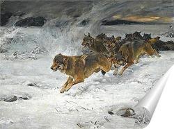 Постер стая волков