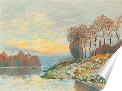 Постер Сена в Буживале, Морозное утро