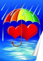 Постер Под зонтиком
