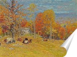 Постер Осеннее пастбище