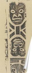Постер Фриз маски (племя Ноа Ноа) 1895
