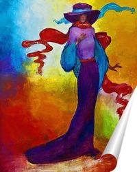 Постер Фиолетовая дама
