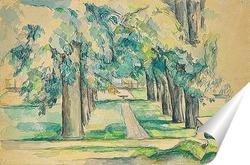 Постер Авеню каштановых деревьев в Жа де Буффане