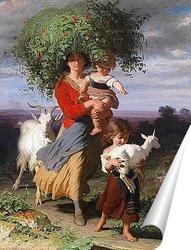 Постер Мать возвращается с детьми домой