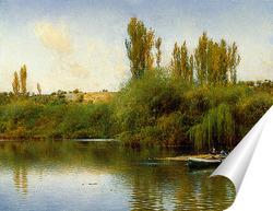 Постер Лодка на берегу Гвадайры