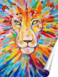 Постер Счастливый Лев