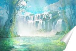 Сказочный водопад