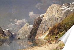 Постер Озеро в горах