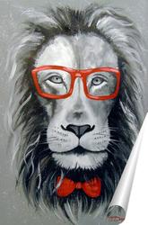 Постер Модный Лев