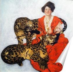Постер Дама с Леопардами