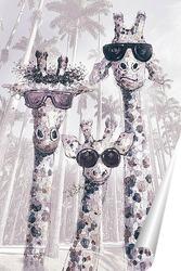 Постер Жирафы стиляги