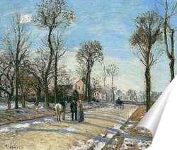 Постер Маршрут де Версаль, Зимнее солнце и снег, 1870