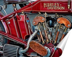 Постер Урбанометрия. Harley-Davidson. Oldstyle.
