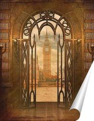 Постер Вид из окна на Лондон