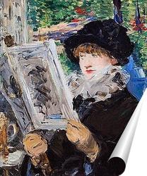 Постер Читающая женщина, 1879