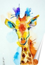 Постер Радостный жираф