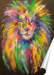 Постер Красавец лев