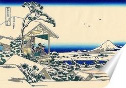 Постер Снежное утро на реке Коисикава